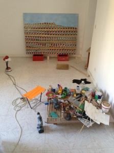 Das Atelier von Maxine Attard.